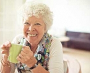 Charming Old Lady with a Cup of Tea